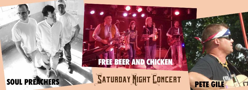 THREE Bands on Saturday Night!